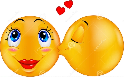 cartoon-kissing-emoticon-illustration-46948245