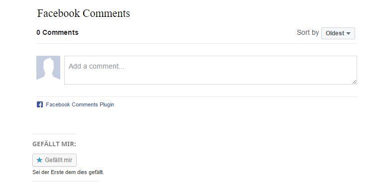 Facebook Comments aktiviert